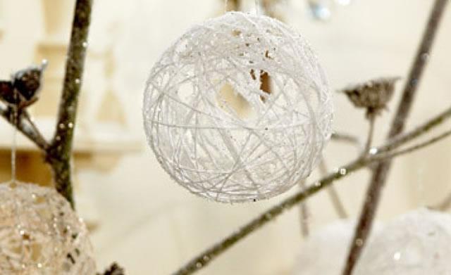 Diy string ball ornaments lanterns better living - String ornaments christmas ...