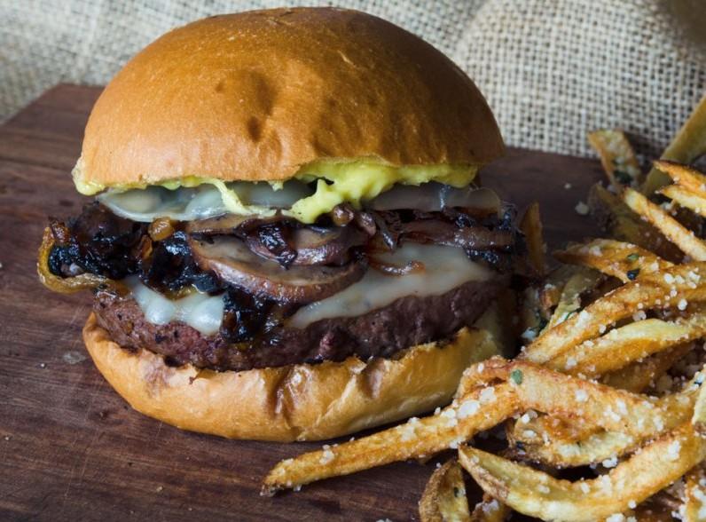 Mushroom-Burger-provolone-onions