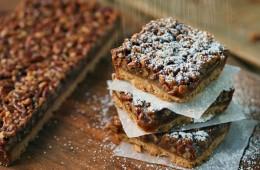 Maple Pecan Pie Bars Recipe   onbetterliving.com