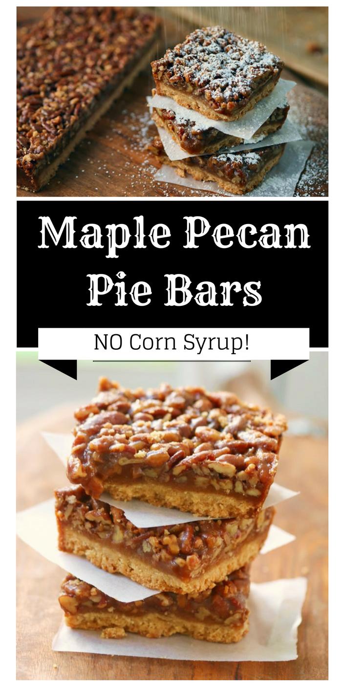 Maple Pecan Pie Bars Recipe No Corn Syrup