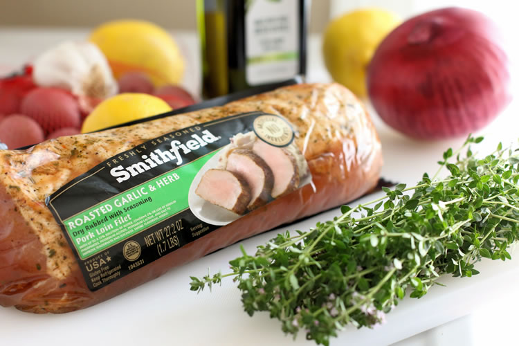 Smithfield Garlic And Herb Marinated Pork Tenderloin | www.onbetterliving.com