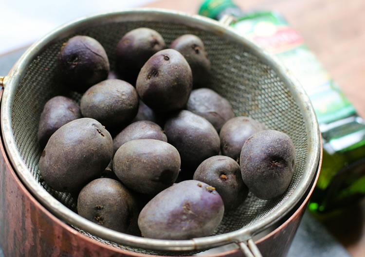Mini Purple Potatoes | www.onbetterliving.com