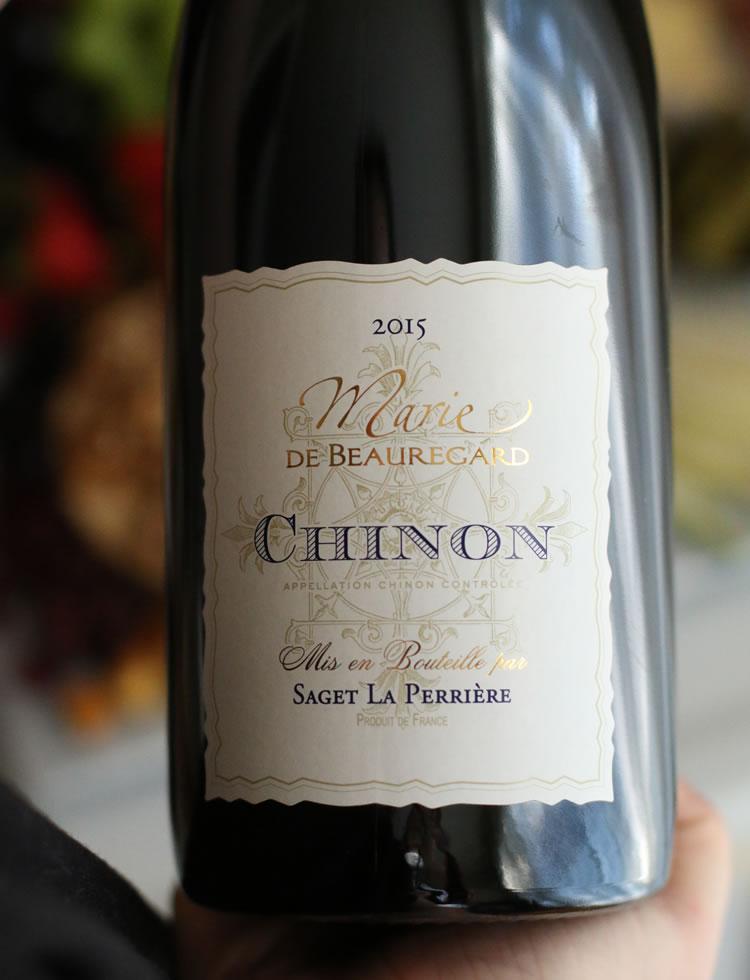 Saget la Perriere Marie de Beauregard Chinon 2015 - Cabernet Franc Wine