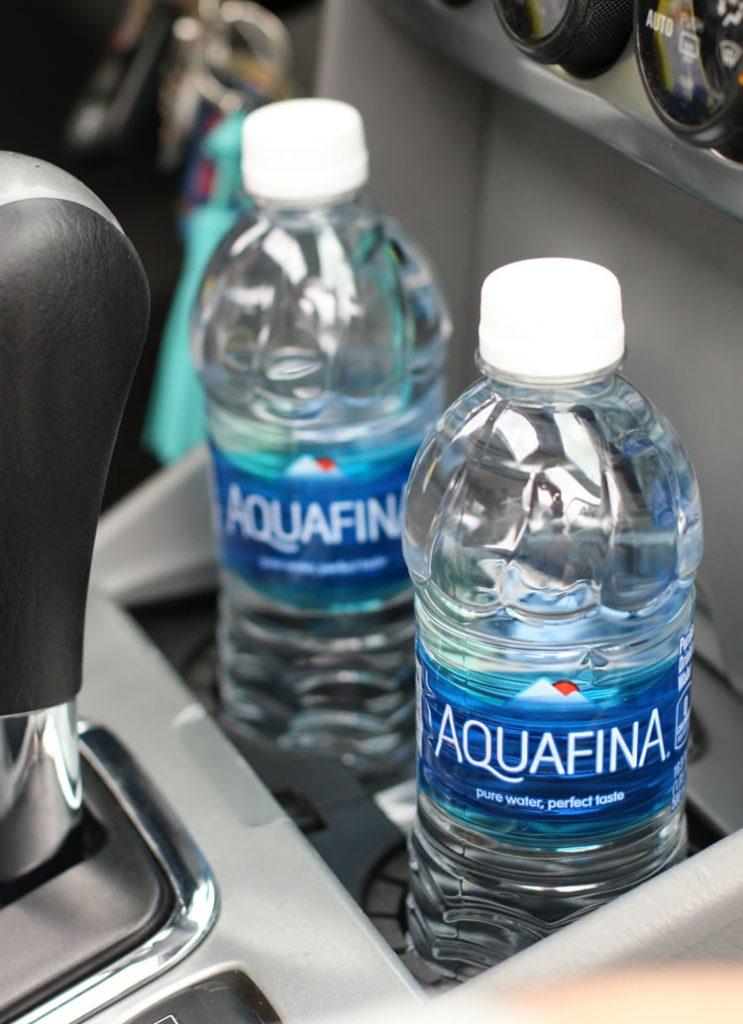 Aquafina Water In The Car