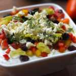 Garlicy Greek Salad Feta Dip Recipe | www.onbetterliving.com