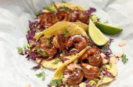 Recipe: BBQ Shrimp Tacos With Chipotle Cream