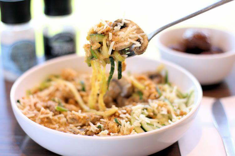 Noodles & Company Zoodles Zucchini Noodles Review Truffle Mac Peanut Saute