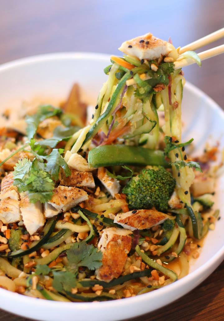 Noodles & Company Zoodles Dish - Spicy Peanut Saute