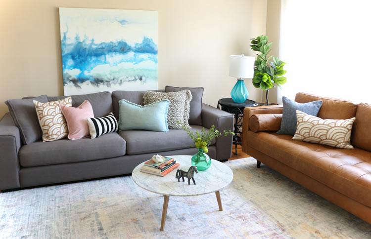 Article.com Living Room Makeover Sofas Modern
