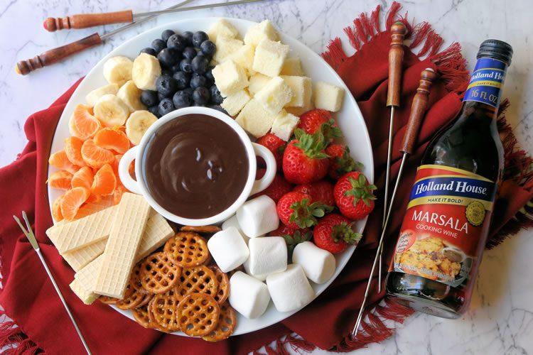 Recipe Easy Chocolate Caramel Marsala Cooking Wine Fondue