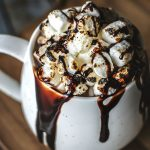 Recipe Dark And Creamy Hot Chocolate With Toasted Marshmallows| www.onbetterliving.com