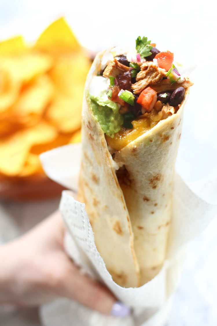 Best Ever 7 Layer Burrito Recipe Chicken Beans Rice Guacamole