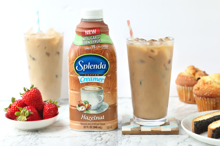 Delicious Sugar-Free Splenda Hazelnut Coffee Creamer Is Perfect For Ice-Coffee