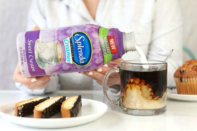 Splenda Sugar-Free Corn-Syrup Free Coffee Creamers Vanilla Hazelnut Sweet Cream Low-Calorie