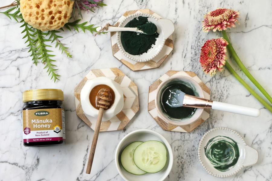 Easy At HOme 6 DIY Manuka Honey Face Masks Spirulina | www.onbetterlivng.com