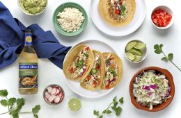 Crock Pot Green Chile Chicken Tacos made with Holland House White Cooking Wine