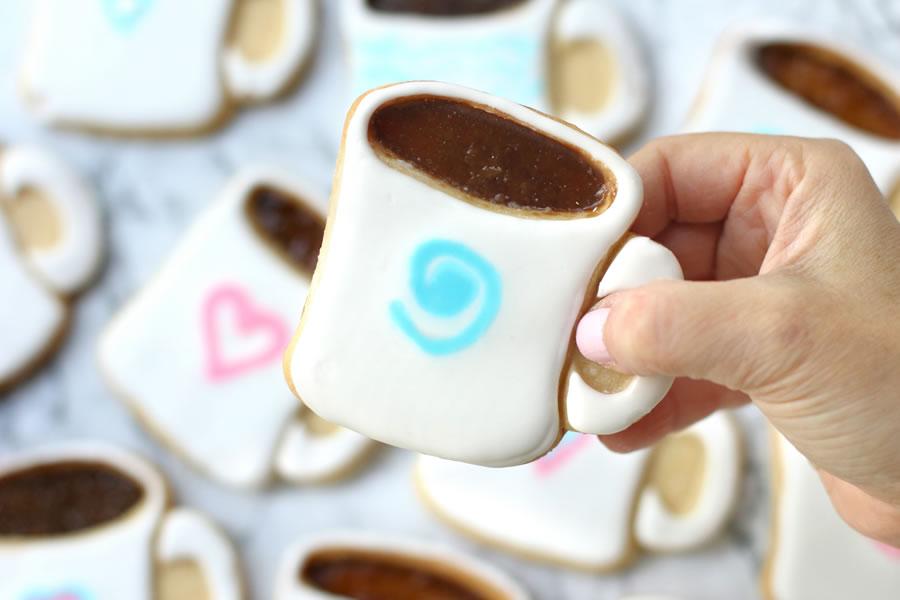Mocati Coffee Mug Cut Out Cookie Recipe | https://onbetterliving.com