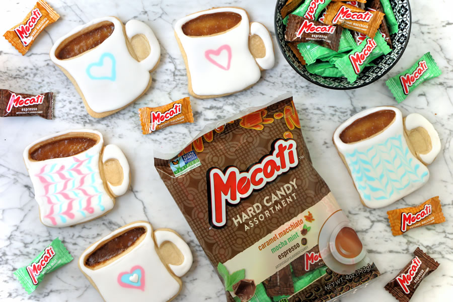 Stained Glass Coffee Mug Cookie Recipe With Mocati | https://onbetterliving.com