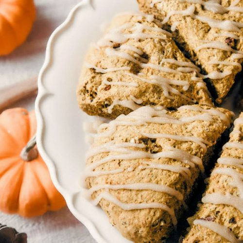 pumpkin scone recipe with maple glaze