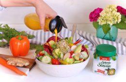 Splenda Stevia Salad with Carrot Ginger Dressing