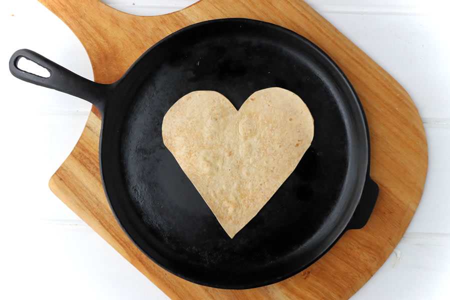 tortilla crust for low carb pizza on a skillet