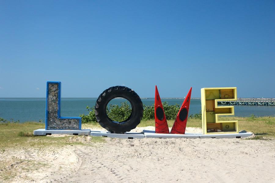 Love Art Sign Cape Charles Beach Virginia