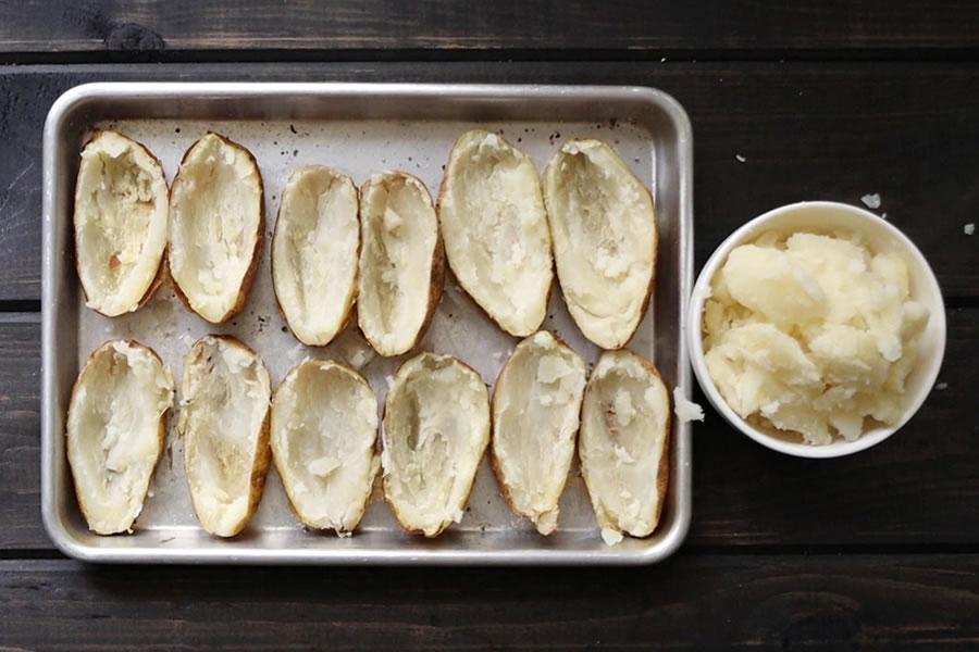ground beef potato skins