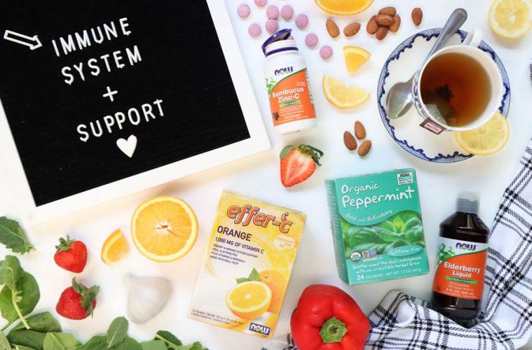 Immune Boosting Flat-Lay