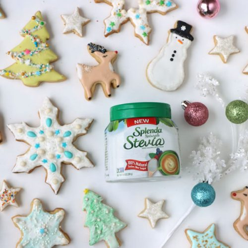 holiday cutout cookies decorated and made with splenda snowflakes stars reindeer christmas trees