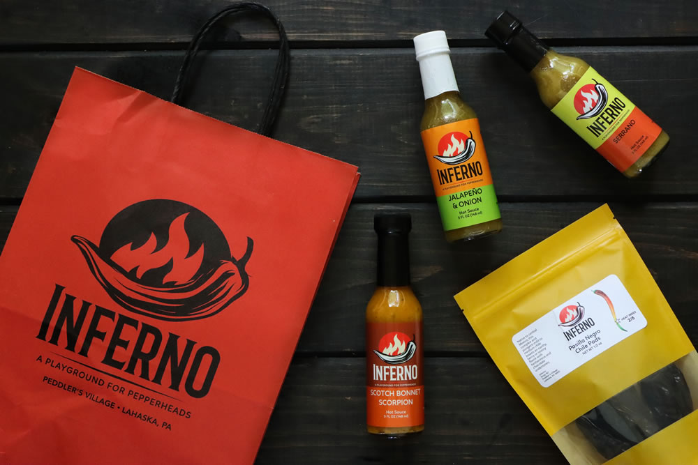 Inferno Hot Sauce Shop at 161 Peddlers Village, Lahaska, PA 18931